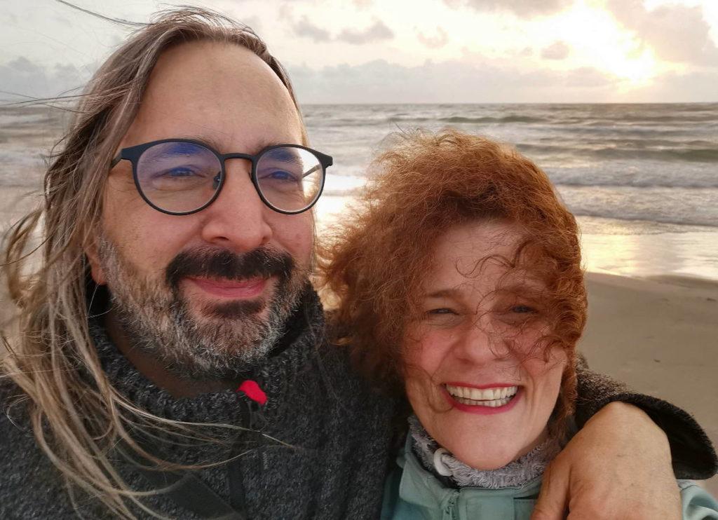 Marion und Alexander am Strand von Dänemark